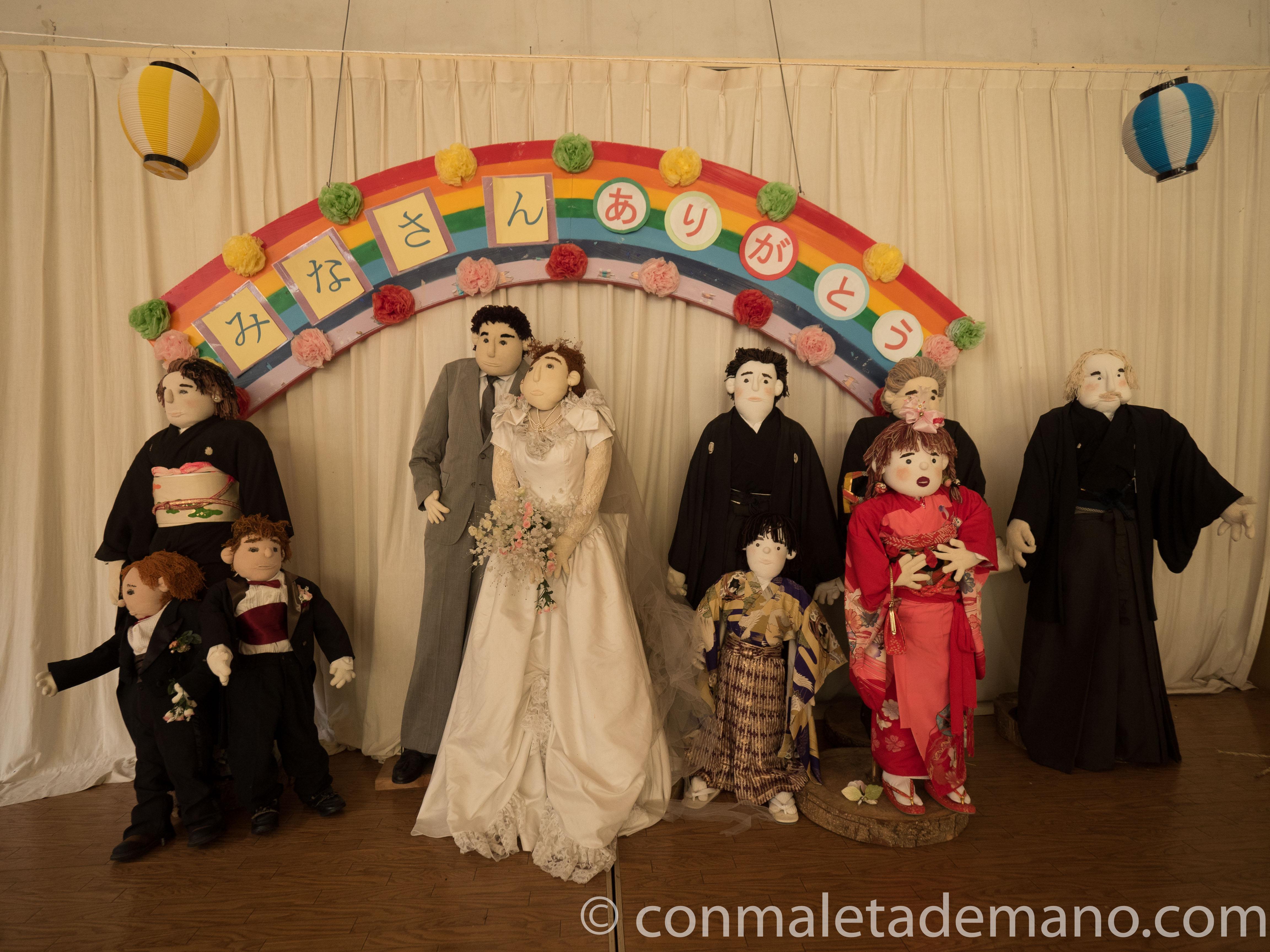 Nagoro, boda en el polideportivo del pueblo, Valle de Iya