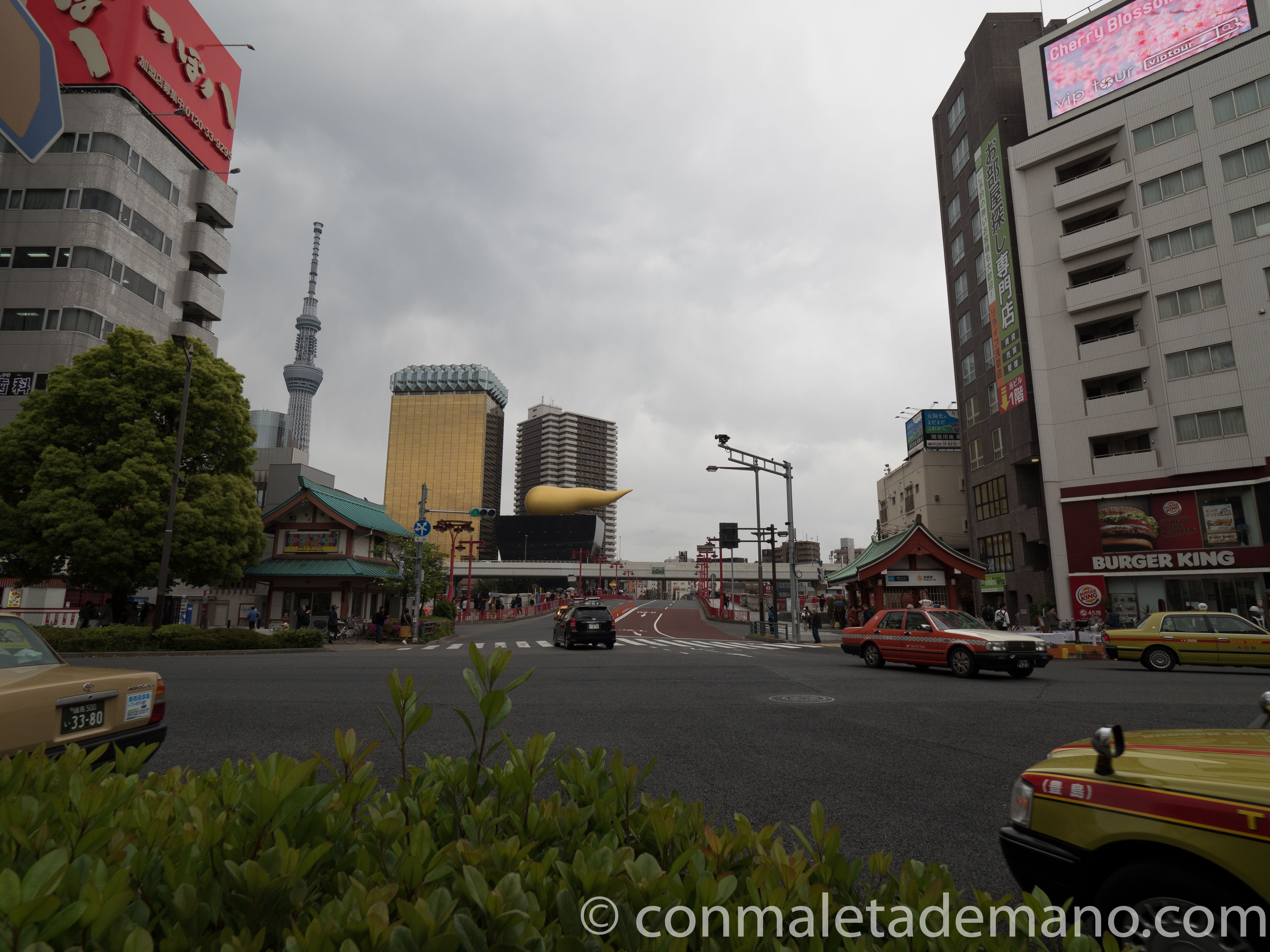 La Sky Tree, la Torre de la Cerveza Asahi y la Flamme d'Or