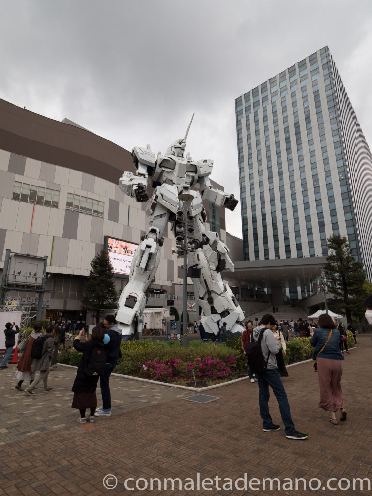 Unicorn Gundam, en Odaiba. Tokyo