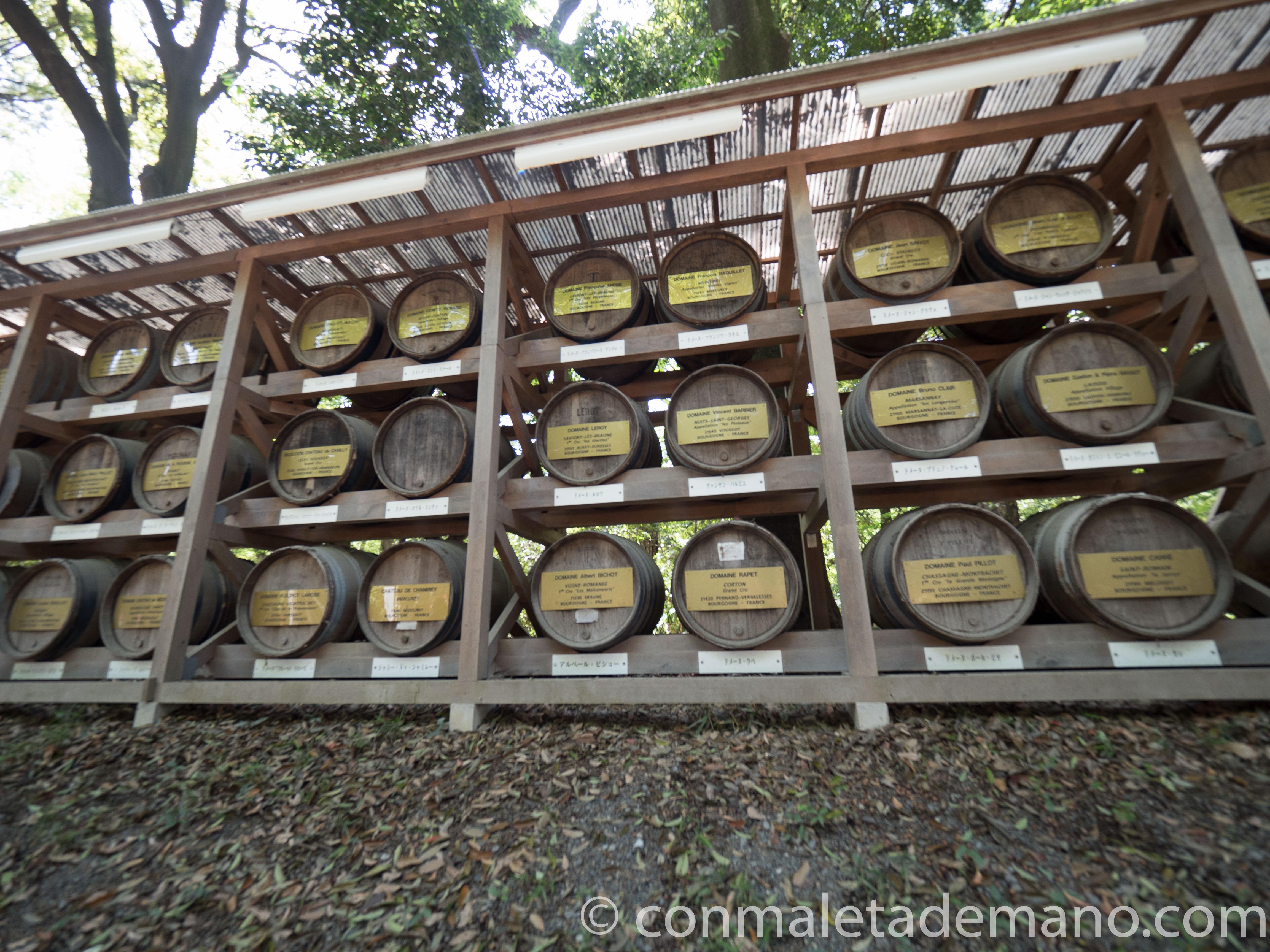 Barriles de Sake, en el Parque Yoyogi