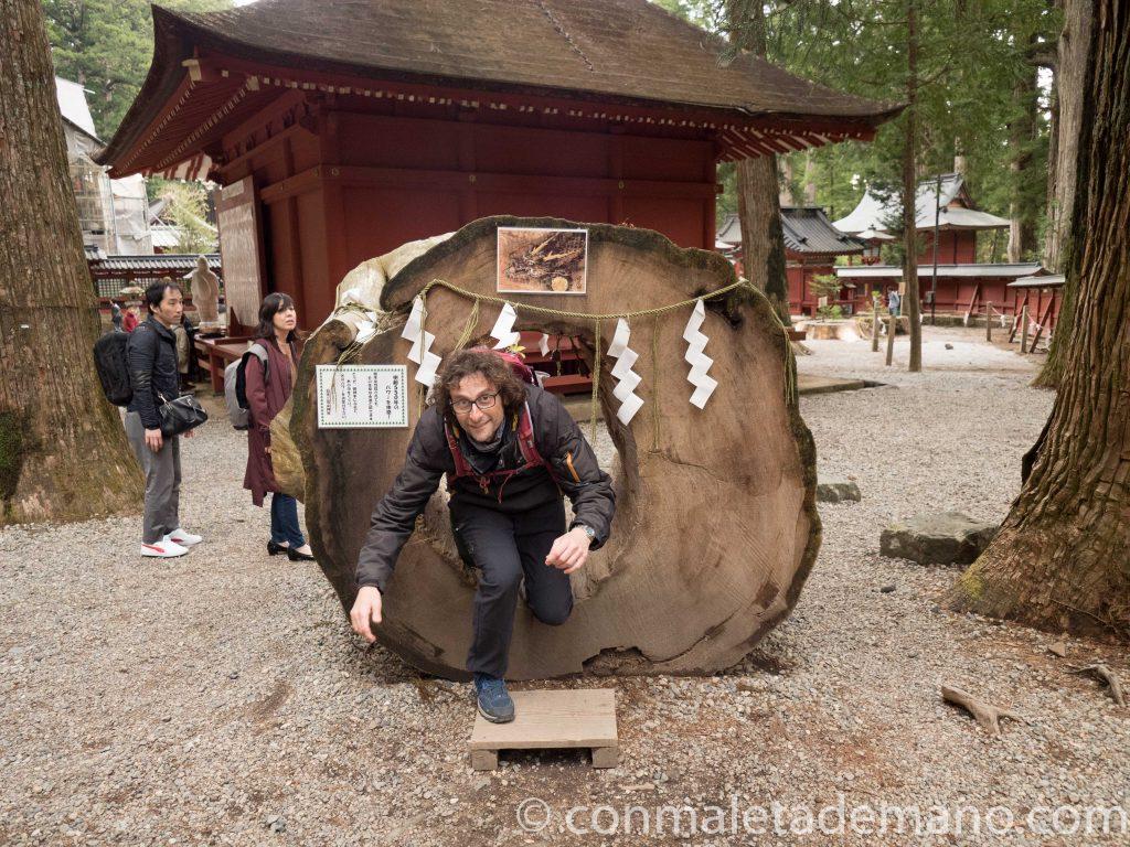 Dani cumpliendo con uno de los rituales del Futurasan