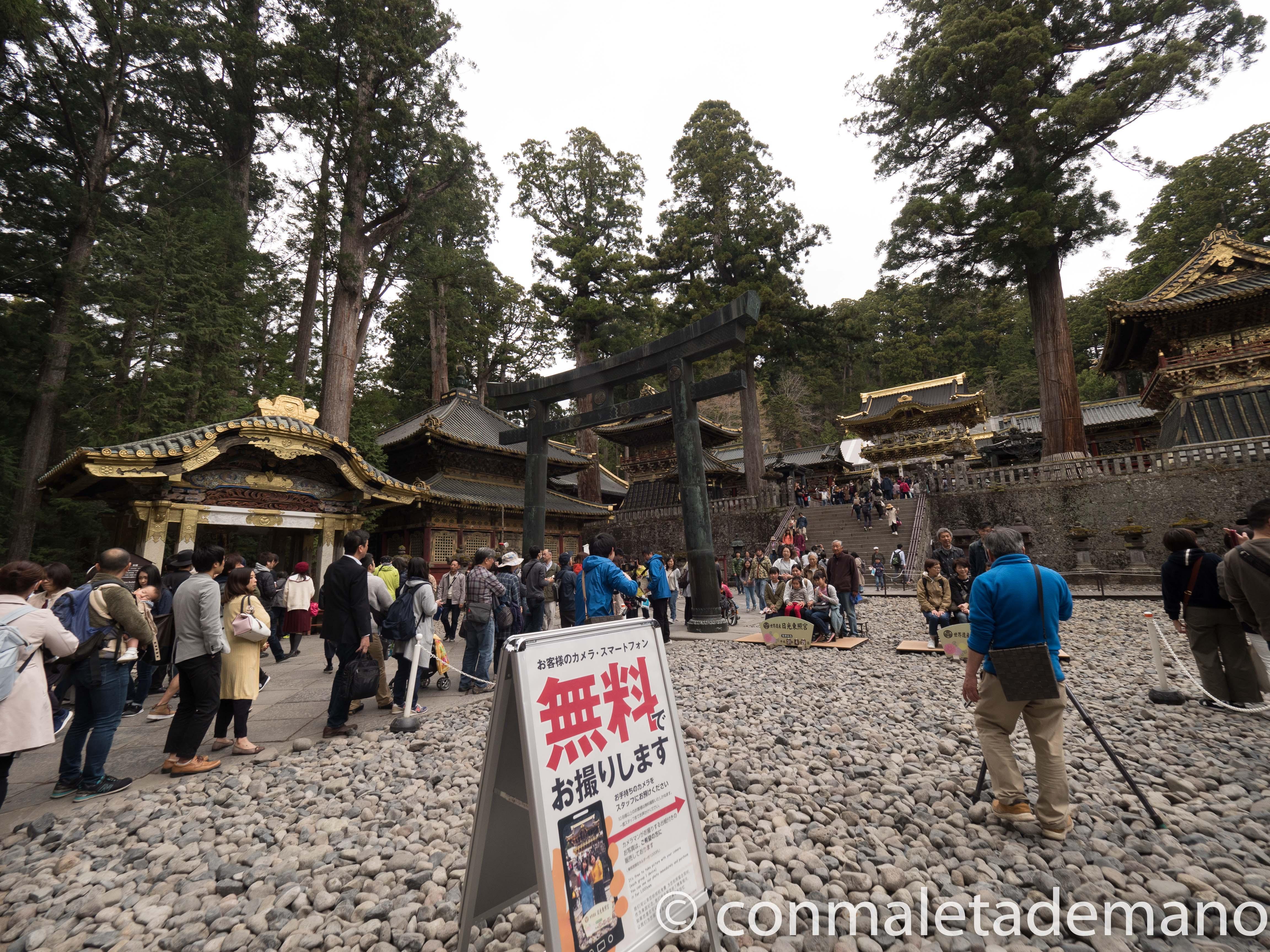 Cola para sacar las entradas del Santuario Toshogu, en Nikko