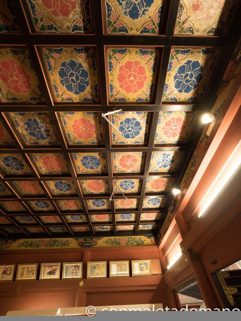 Techo en el interior de uno de los edificios del Futurasan