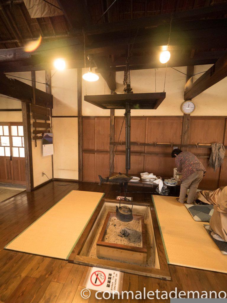 Casa de té en Iyashi no Sato