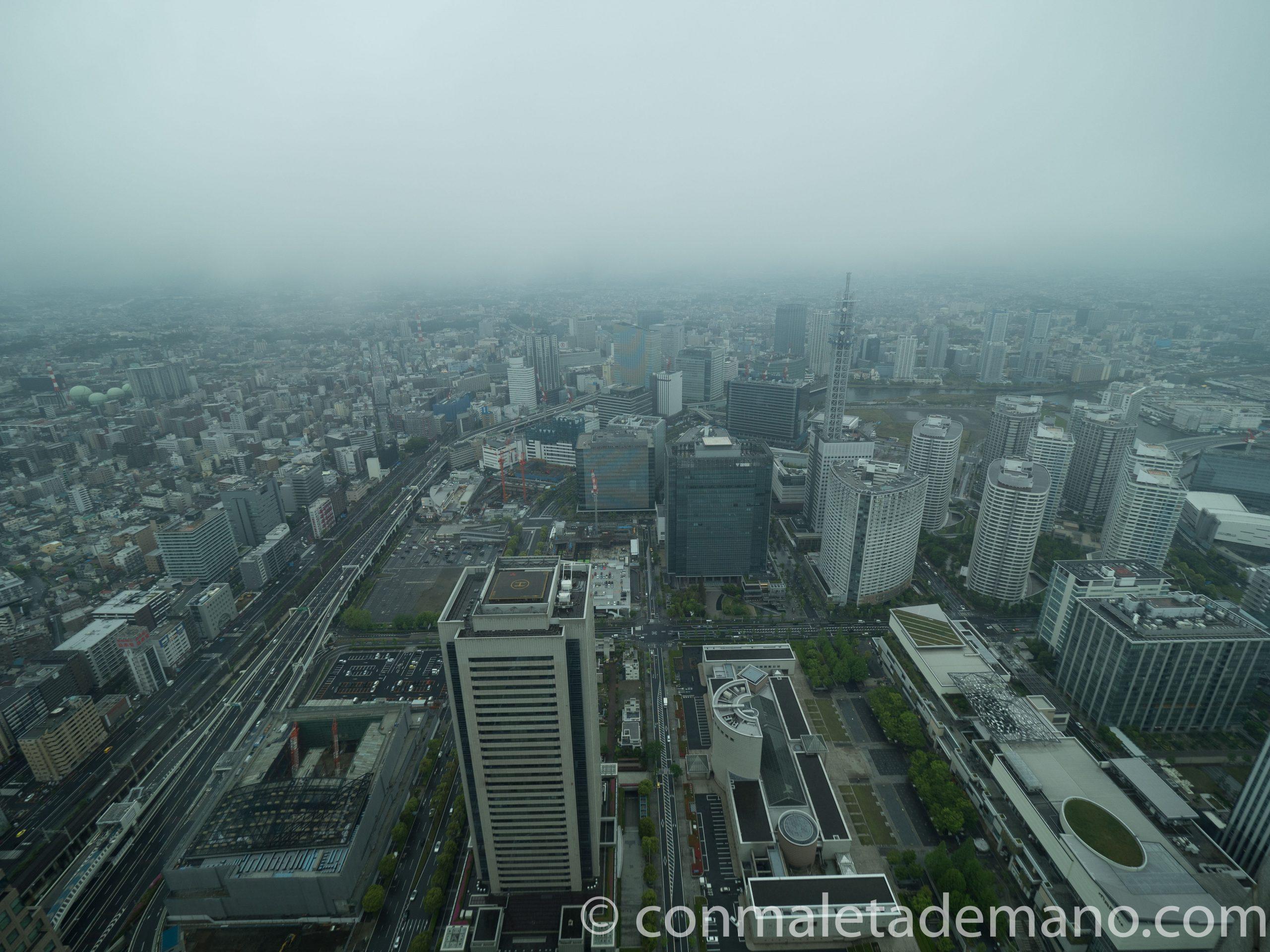 Vistas desde la Landmark Tower por la tarde