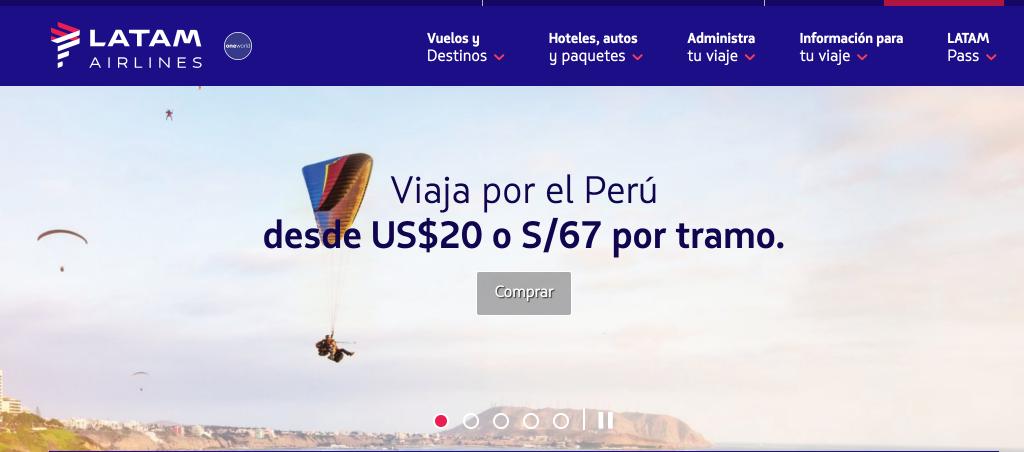 Cómo ahorrar en tus vuelos internos en Perú con Latam