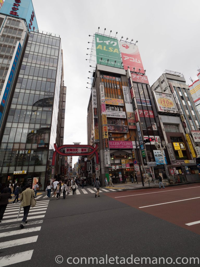 Cartel de neones de Kabukicho, en Shinjuku