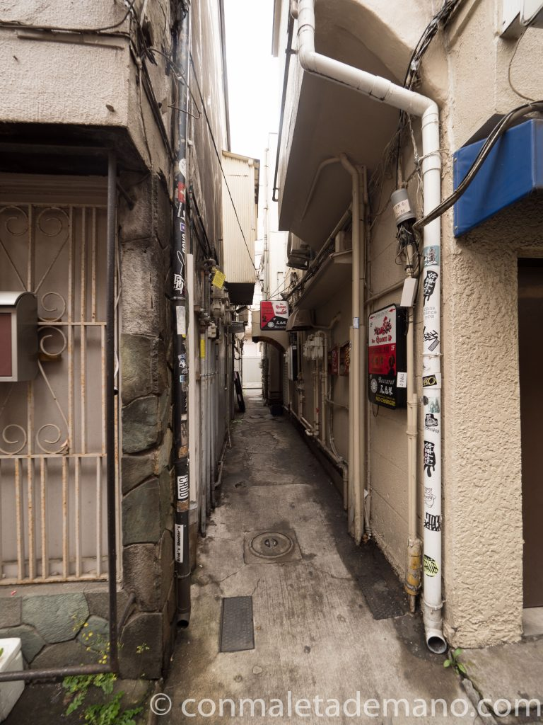 Calle estrecha en la zona de Golden Gai, Shinjuku