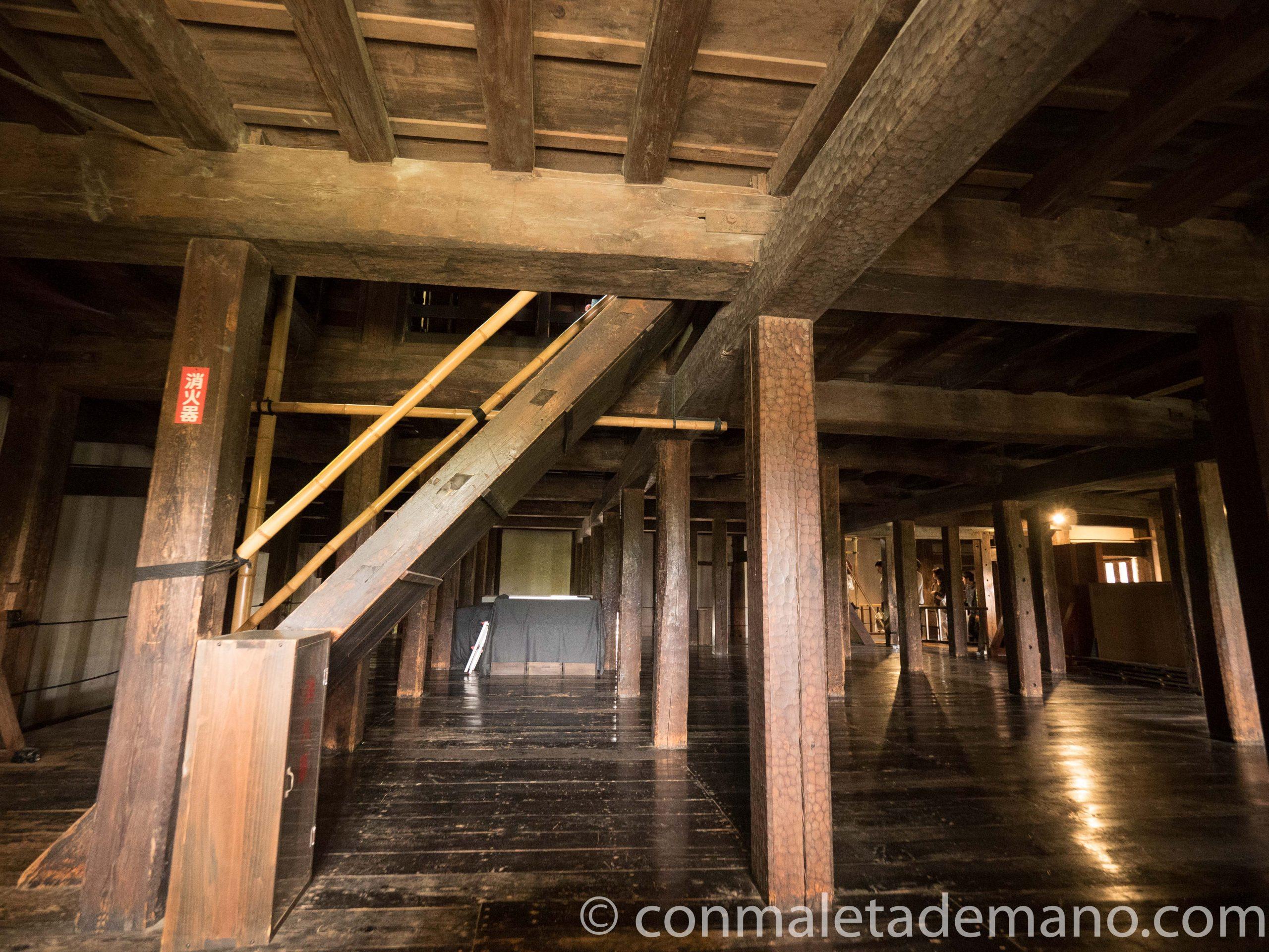 Interior del Castillo de Matsumoto