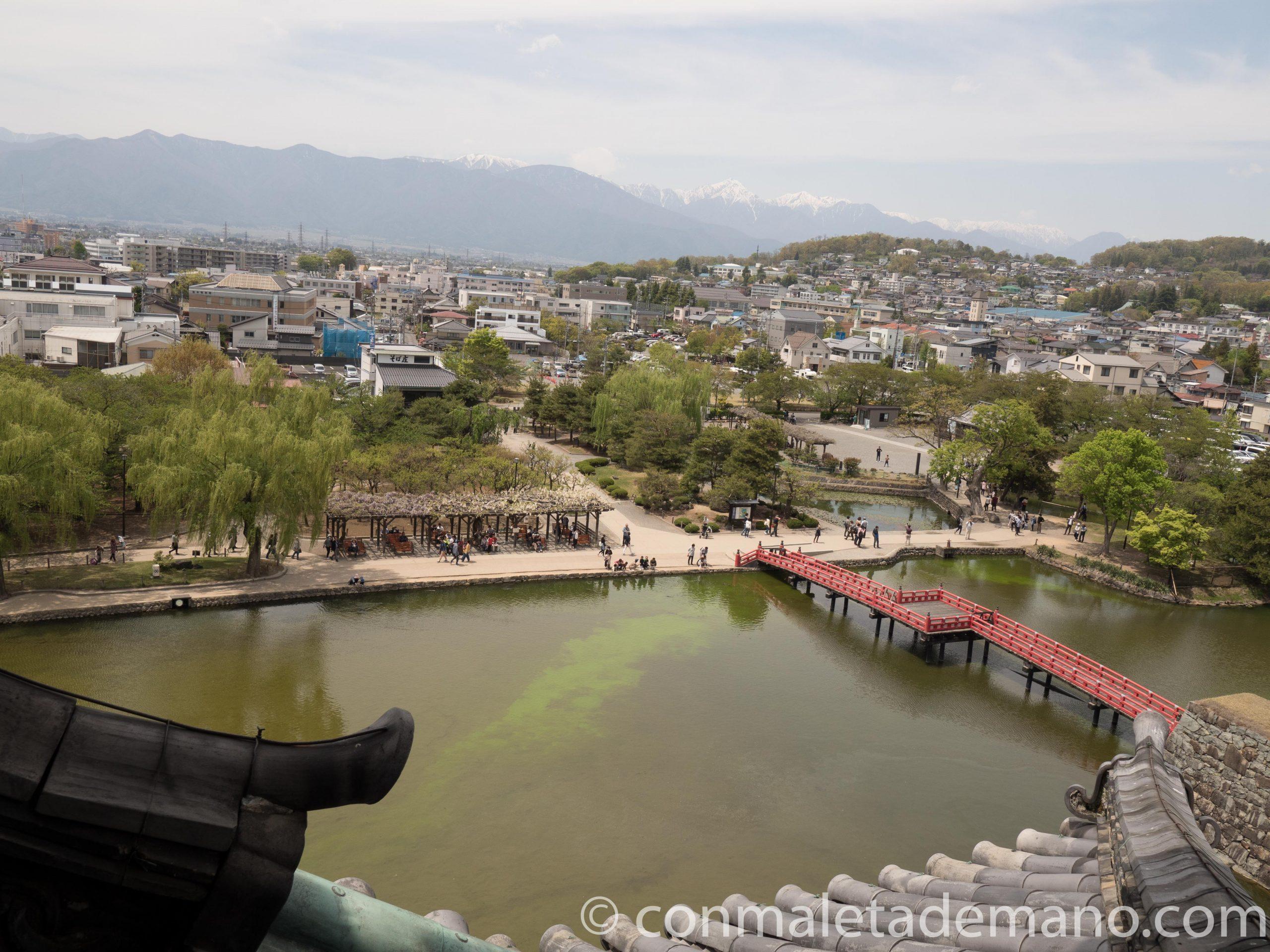 Vistas desde el interior del Castillo de Matsumoto