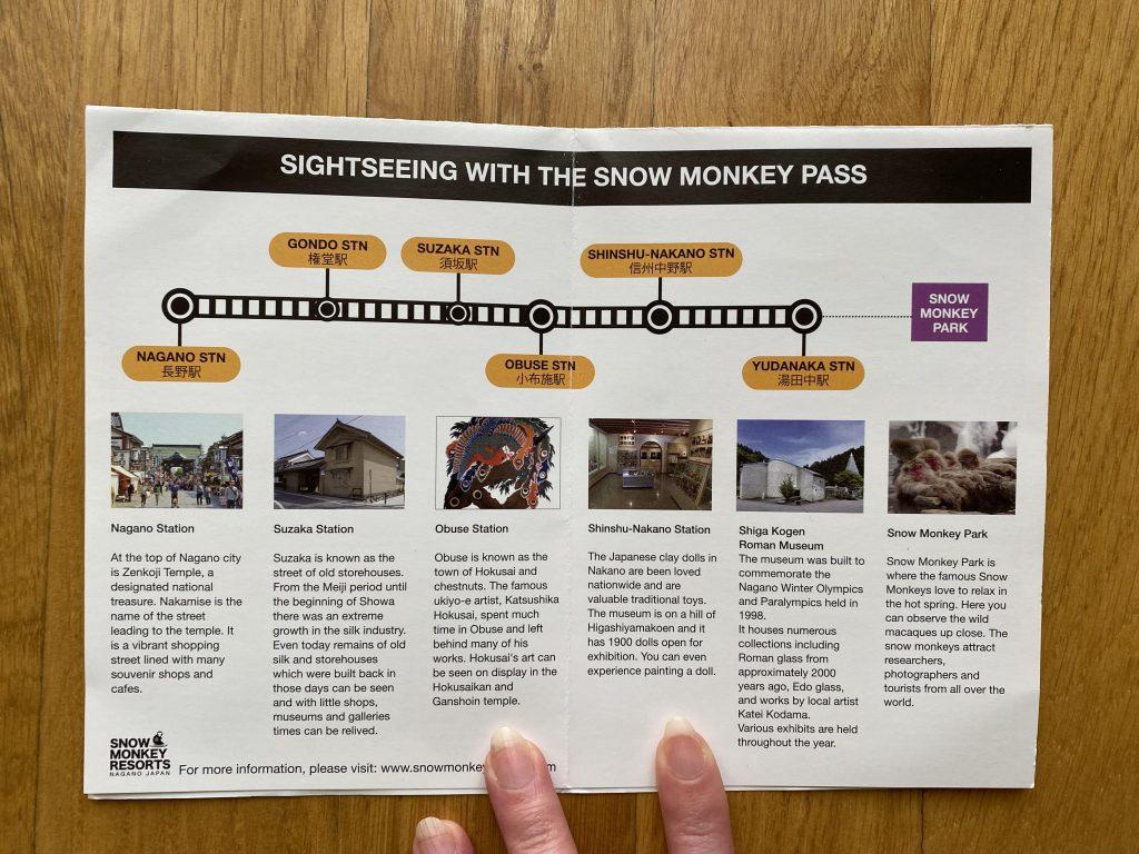 Algunos lugares que puedes visitar con el Snow Monkey Pass