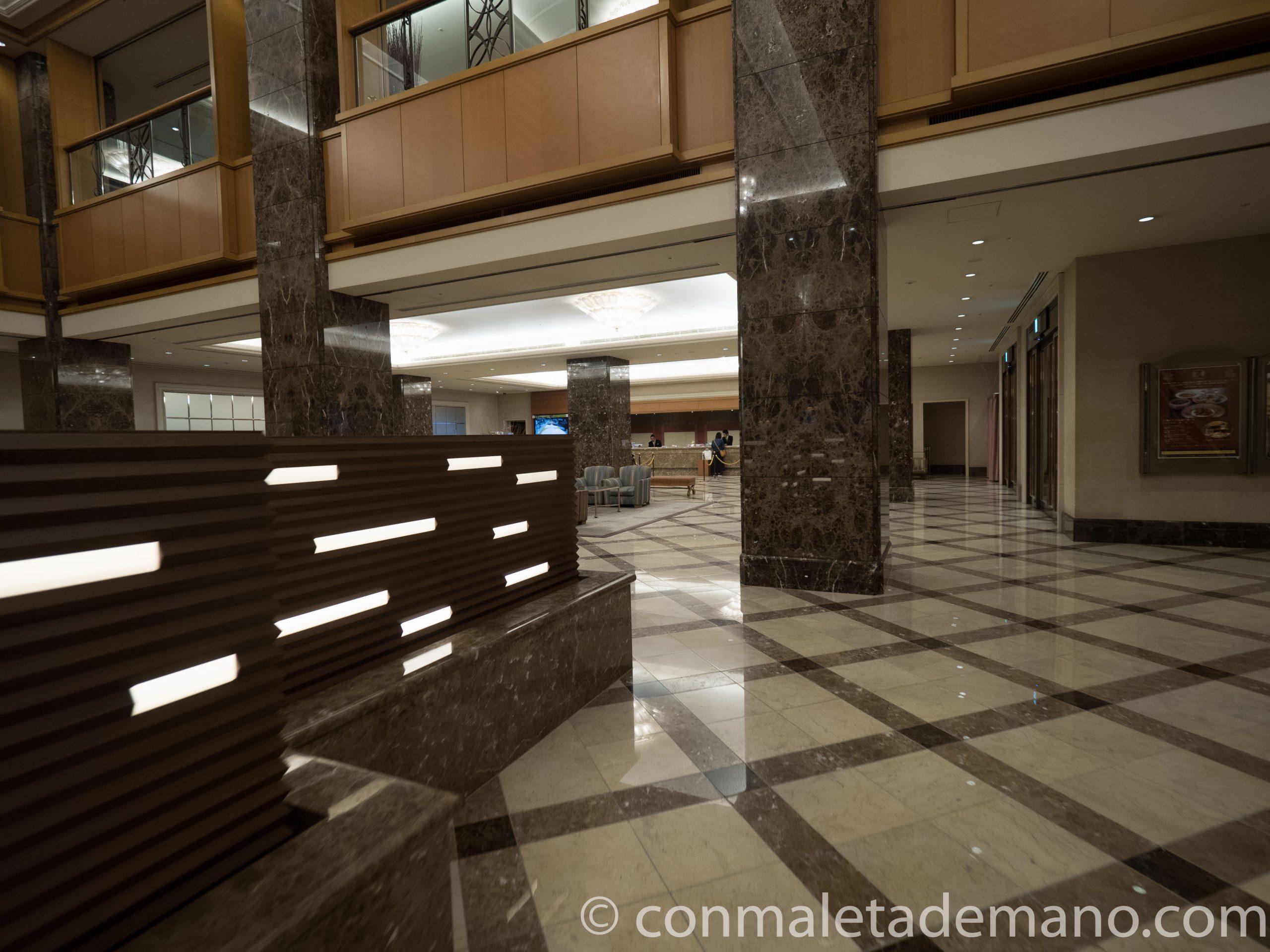 Vestíbulo del Hotel Metropolitan Nagano