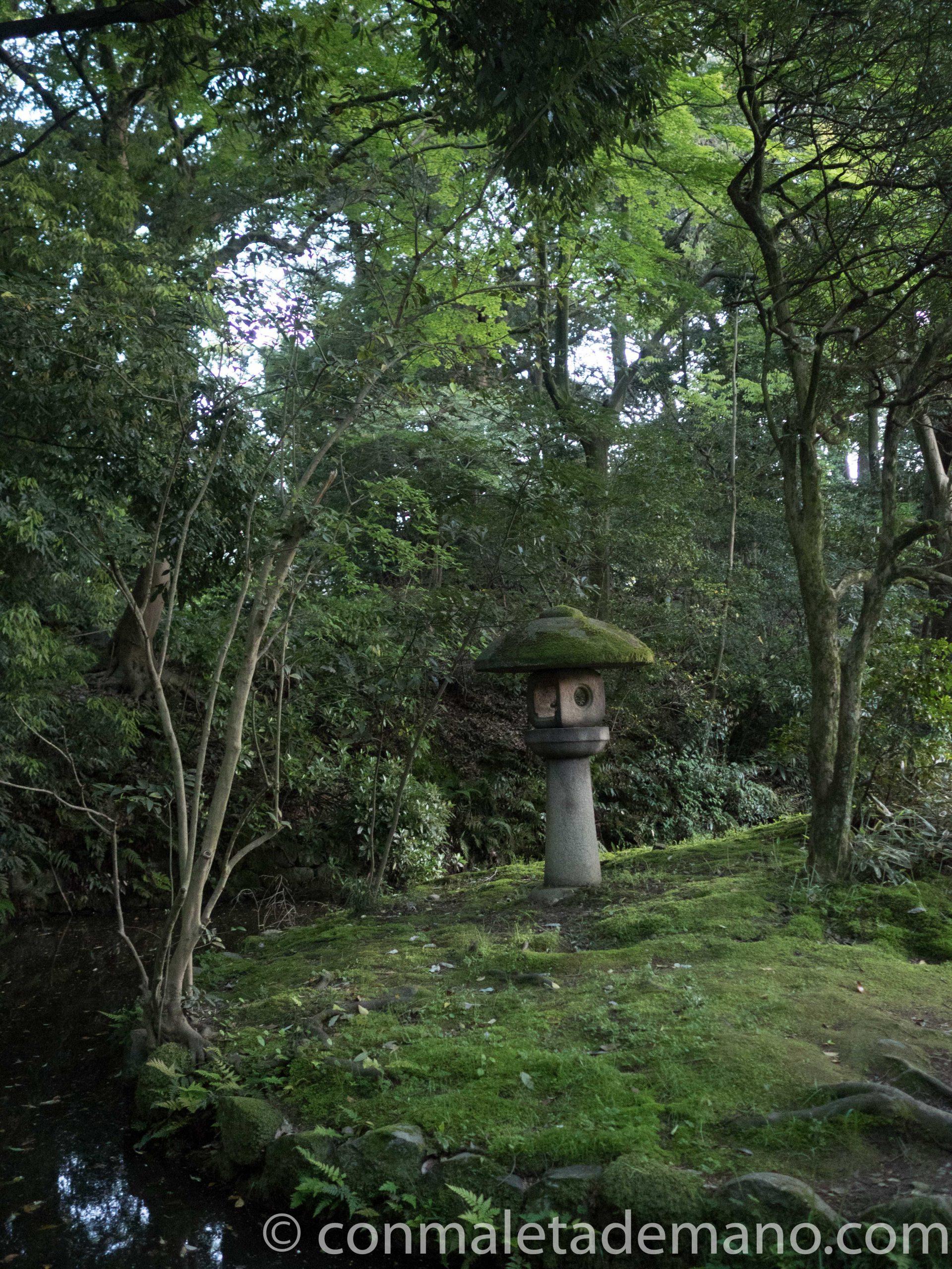 Jardín en el Santuario Oyama, en Kanazawa