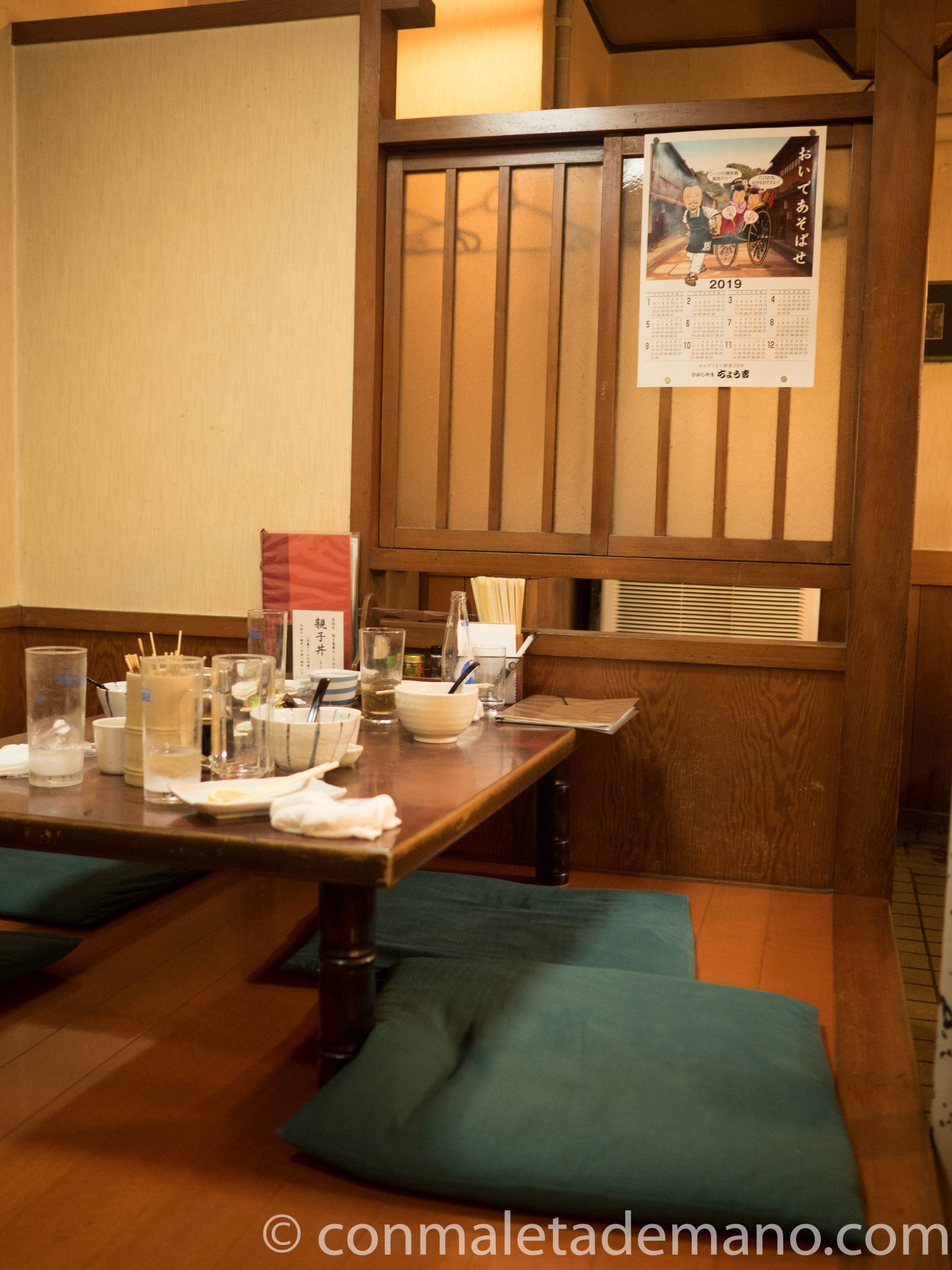 Interior del restaurante donde cenamos
