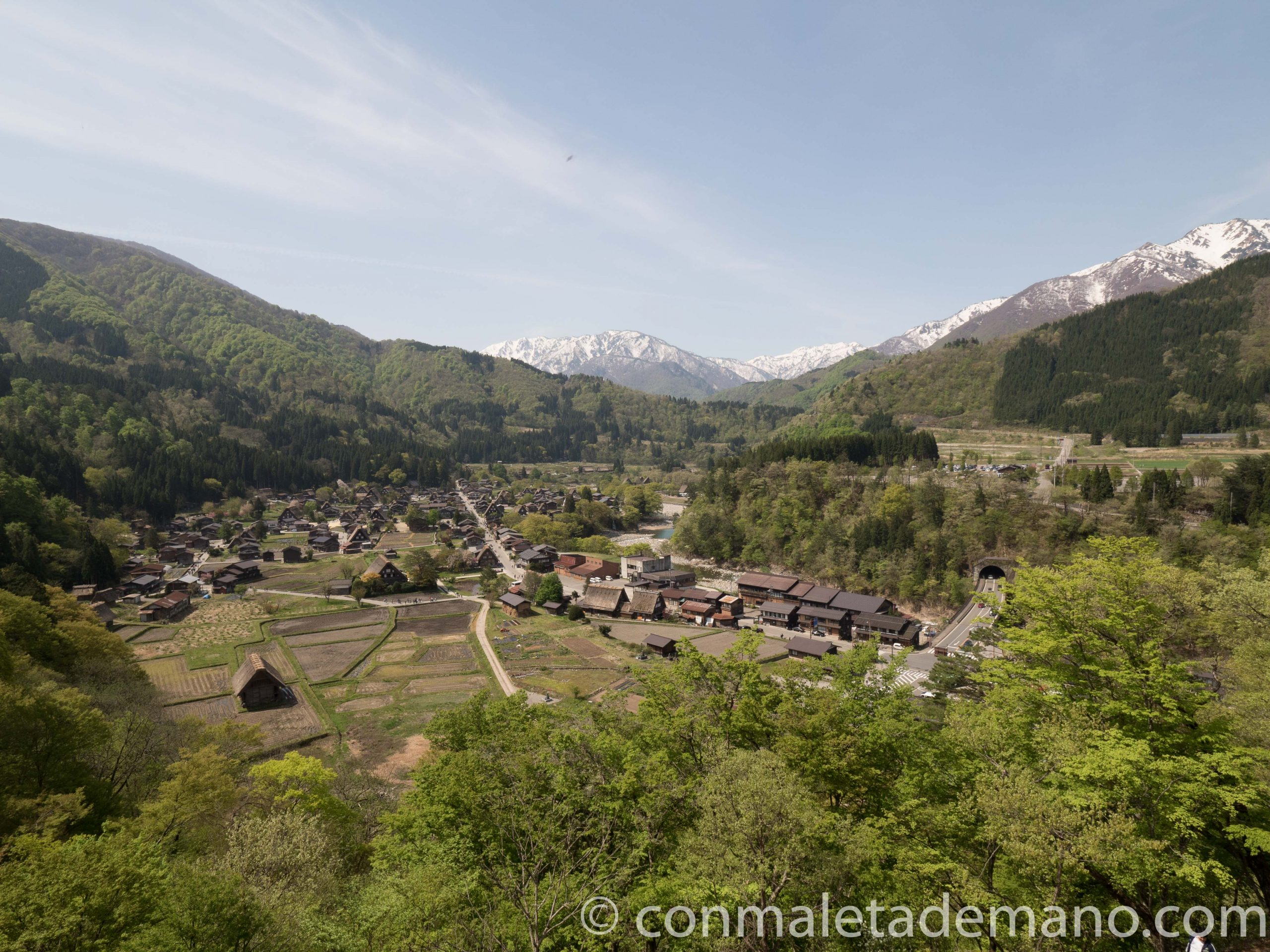 Vistas de Shirakawago desde el Mirador de Shiroyama