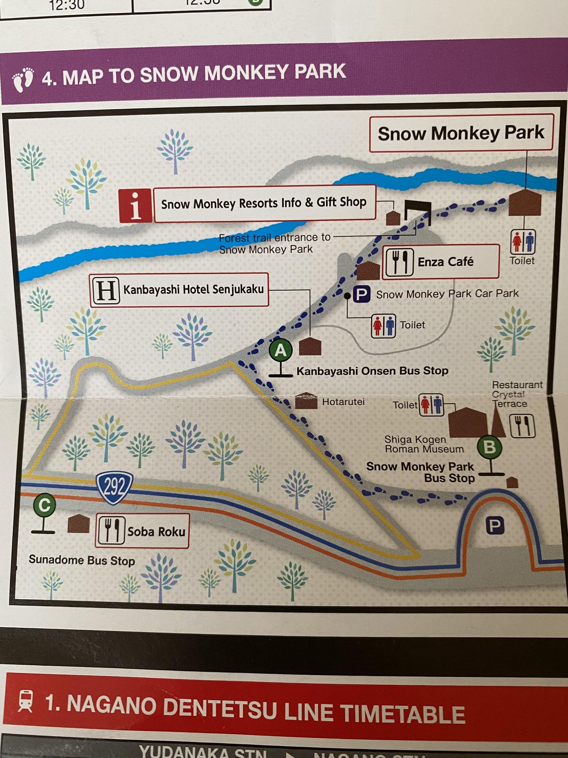Mapa de paradas de autobús local