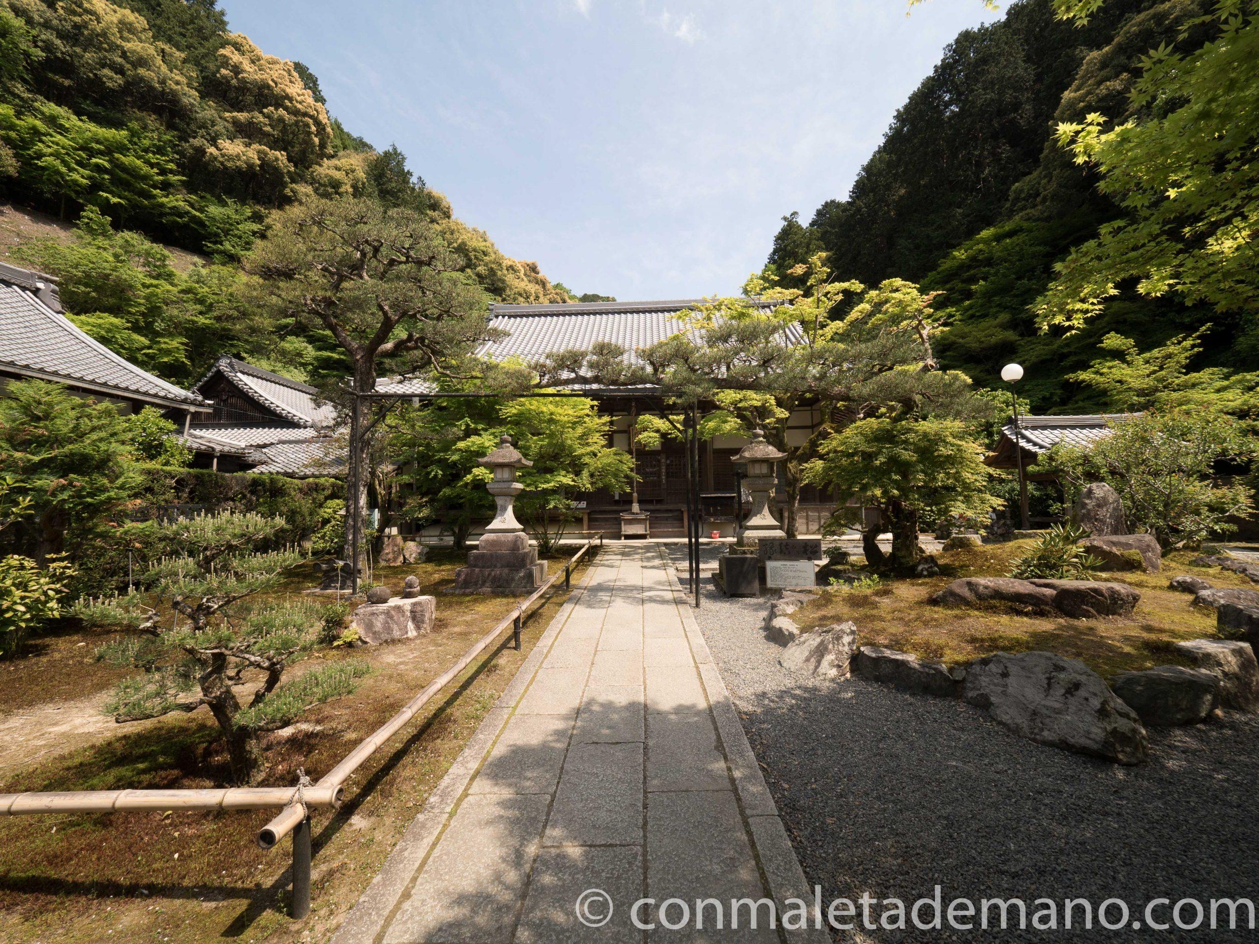 Uno de los edificios del Tempo Nanzen-ji, en Kioto