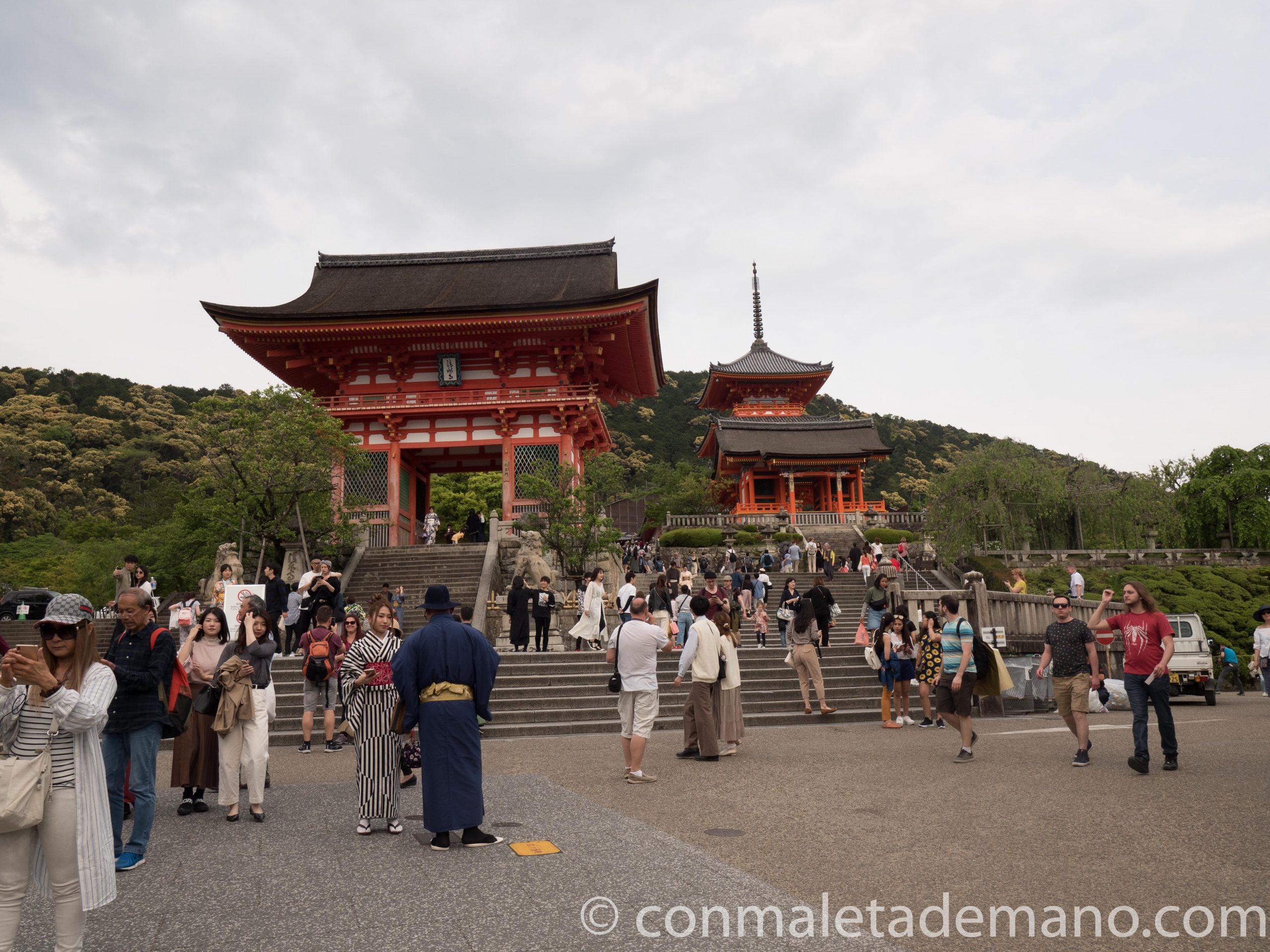 Entrada del Kiyomizudera, en Kioto
