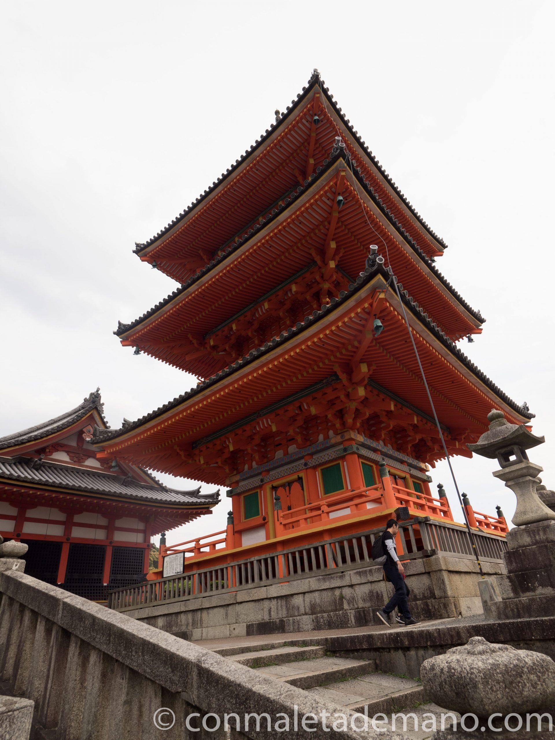 Pagoda en el Templo Kiyomizudera, en Kioto