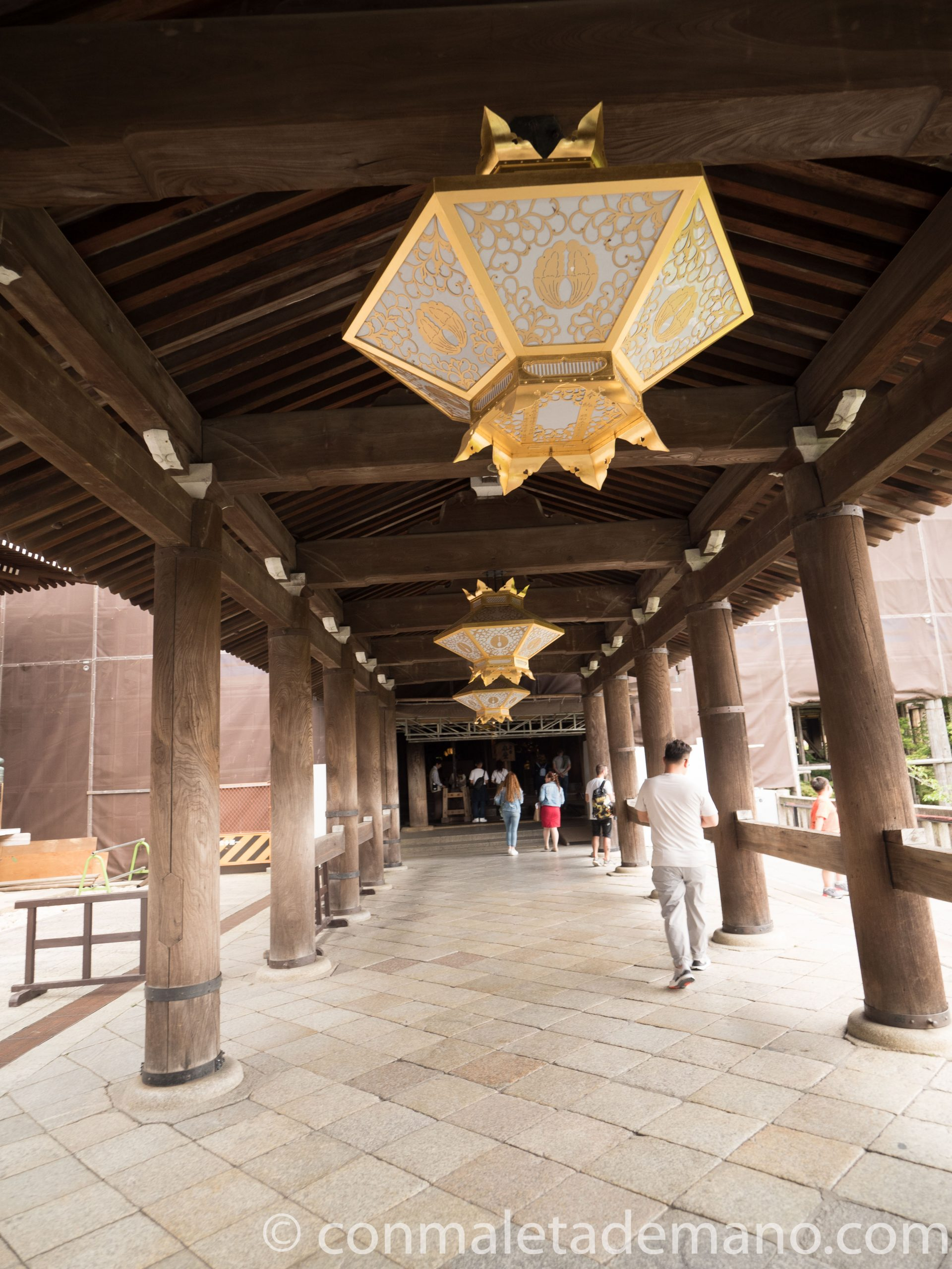 Farolillos en el edificio principal del Kiyomizudera