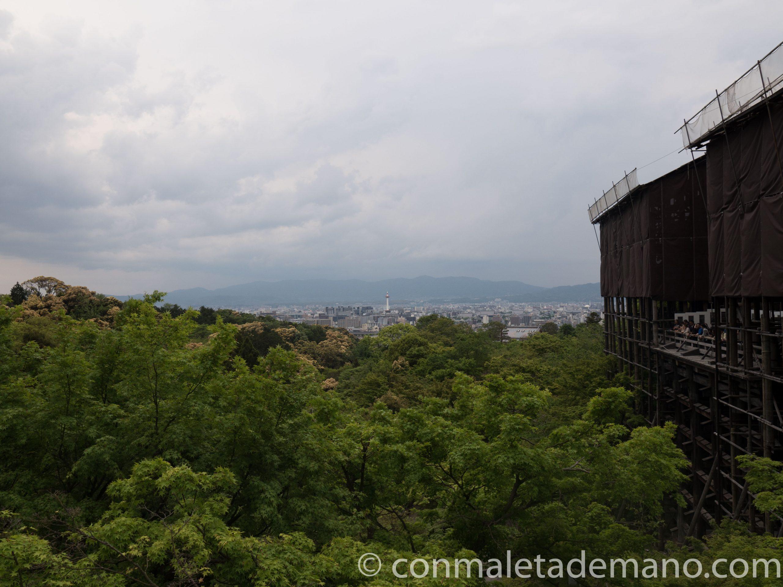 Vistas desde el edificio principal del Kiyomizudera
