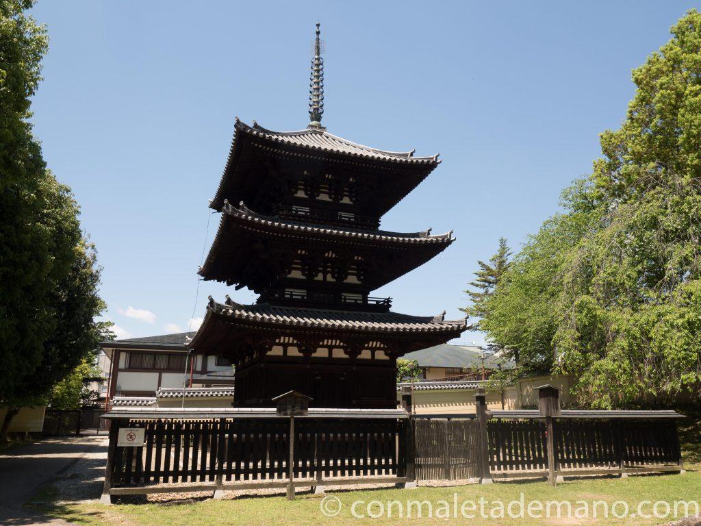 Pagoda de tres pisos del Templo Kofuku-ji, en Nara