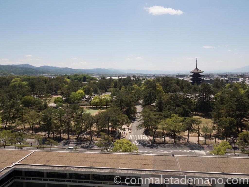 Vistas de Nara desde el Edificio del Gobierno