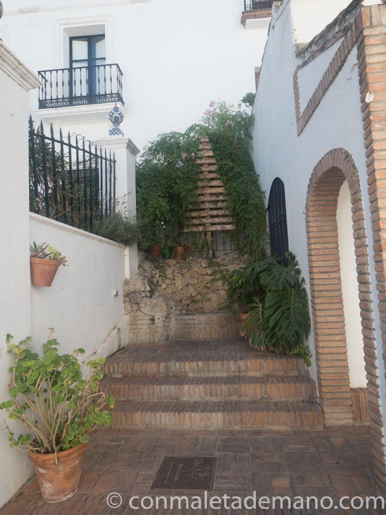 Bonito rincón en al Calle Ronda, en Zahara de la Sierra