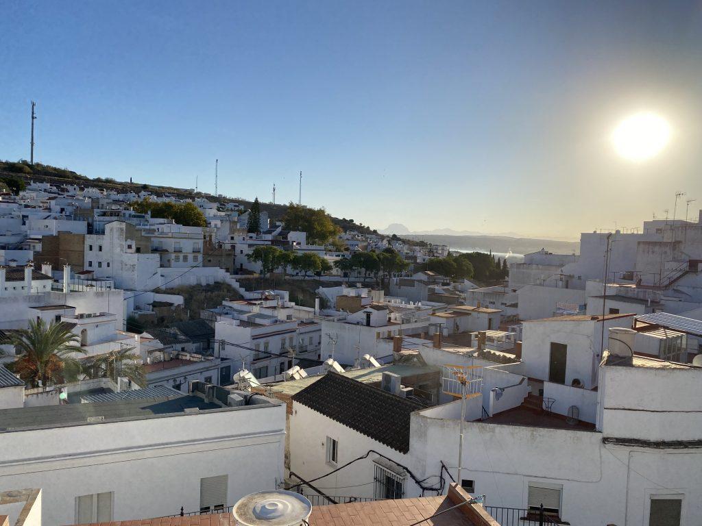 Vistas desde la terraza del Hotel Posada de las Cuevas, en Arcos de la Frontera