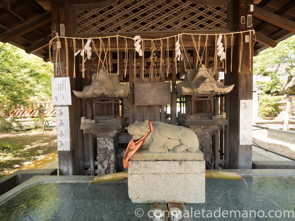 Buey, en el Santuario Kitano Tenmangu, en Kioto, Japón
