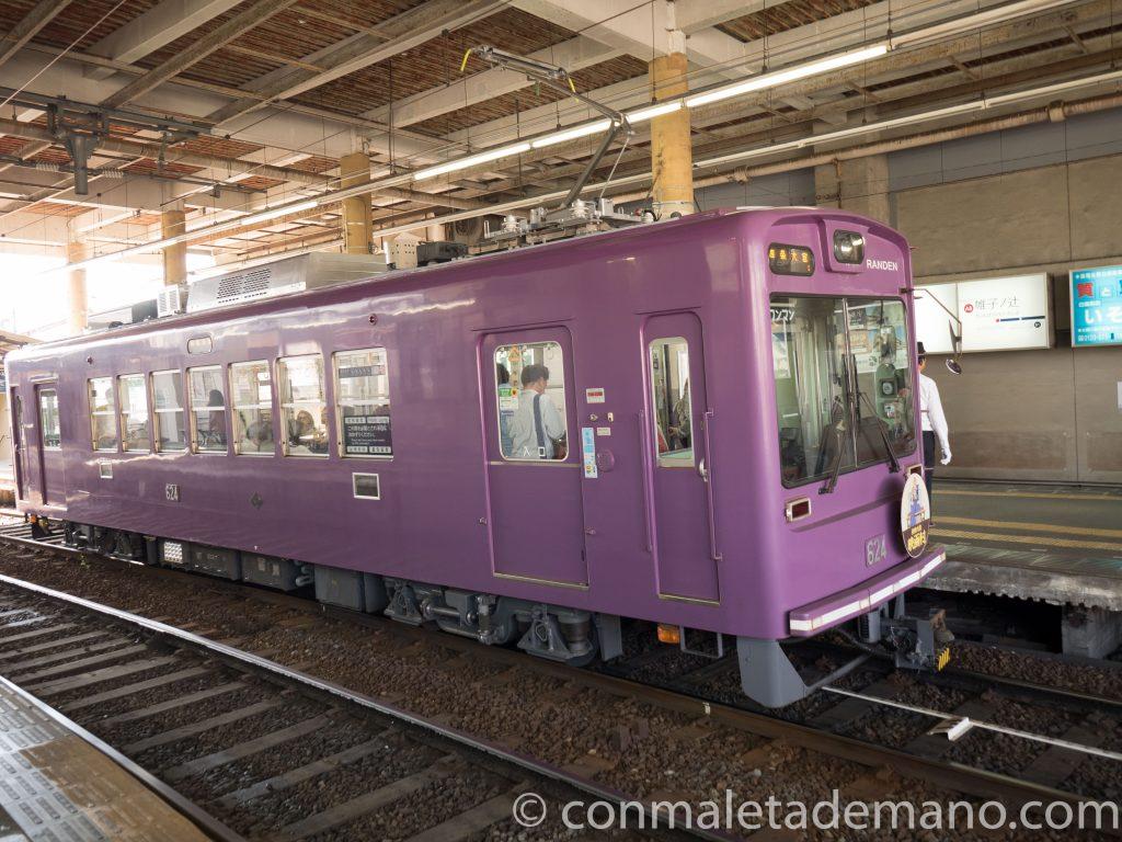Tren Randen hacia Arashiyama