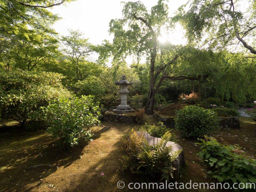 Jardines del Templo Tenryuji, en Arashiyama, Kioto, Japón