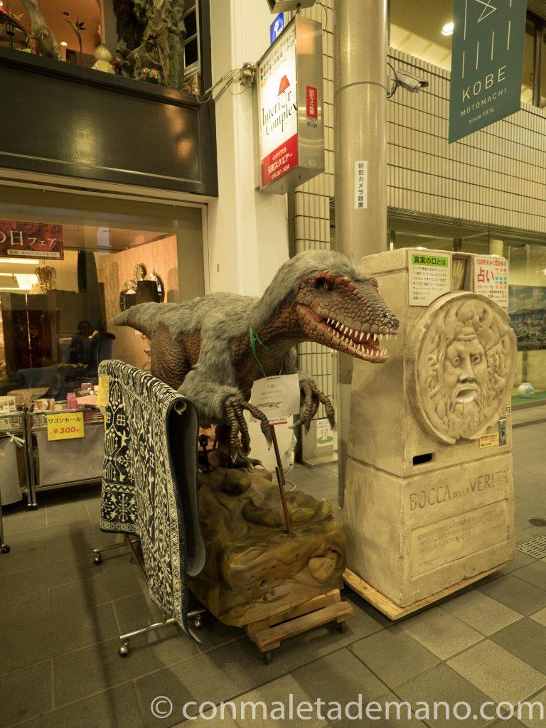 Mascota de una de las tiendas del Chinatown de Kobe