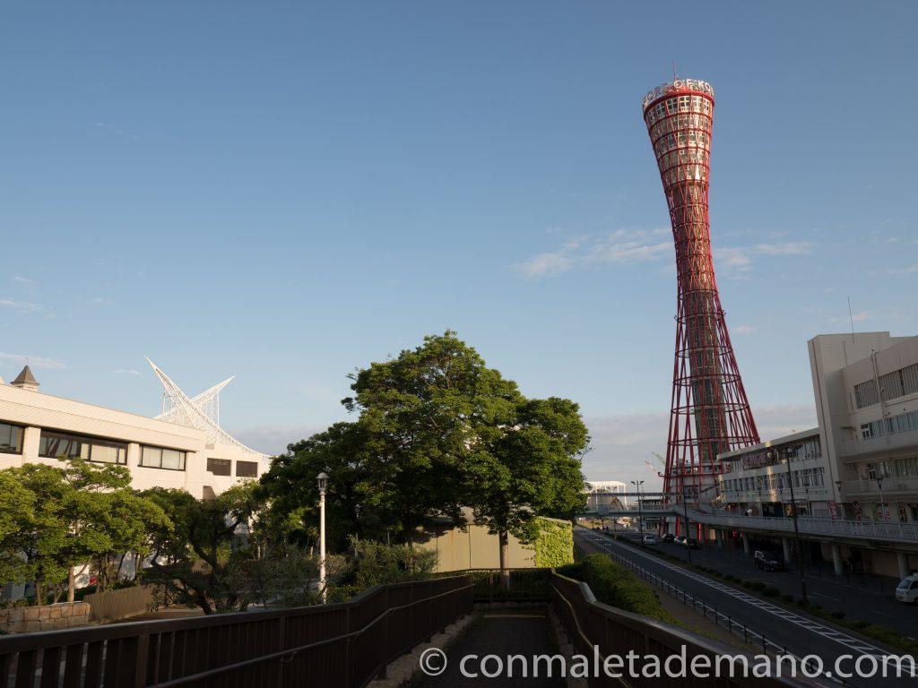 Llegando a la Torre del Puerto de Kobe